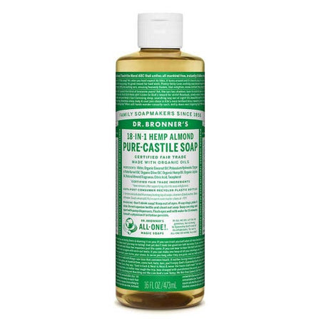 Dr Bronner's Pure-Castile Liquid Soap - Almond (473ml)