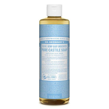 Dr Bronner's Liquid Soap - Baby/ Unscented (473ml)