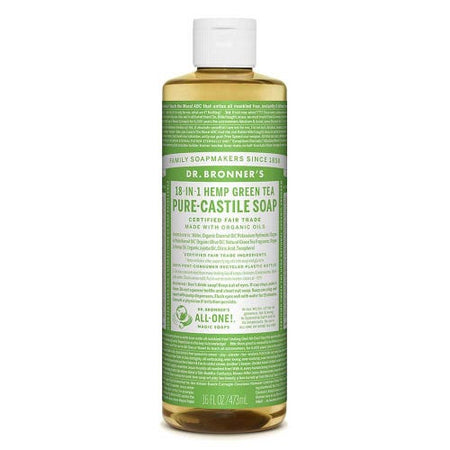 Dr Bronner's Pure-Castile Liquid Soap - Green Tea (473ml)