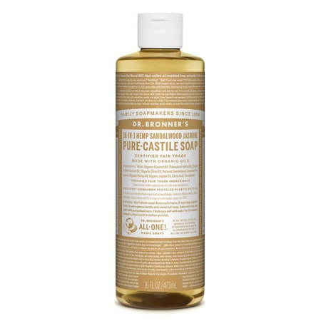 Dr Bronner's Liquid Soap - Sandalwood & Jasmine (473ml)