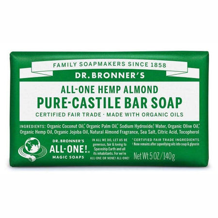 Dr Bronner's Hemp Almond Soap Bar (140g)
