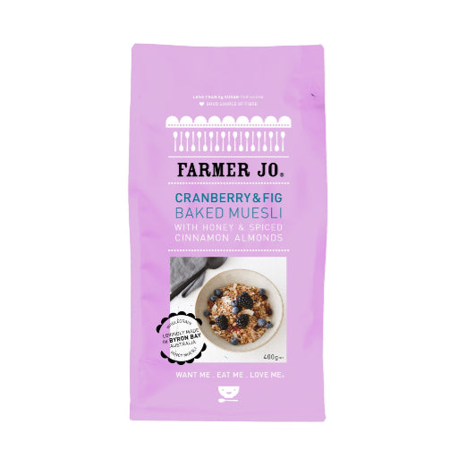 Farmer Jo - Cranberry & Fig Baked Museli + PROBIOTICS 400g