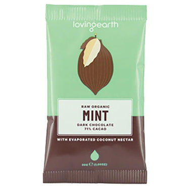 Loving Earth Mint Dark Chocolate (30g)
