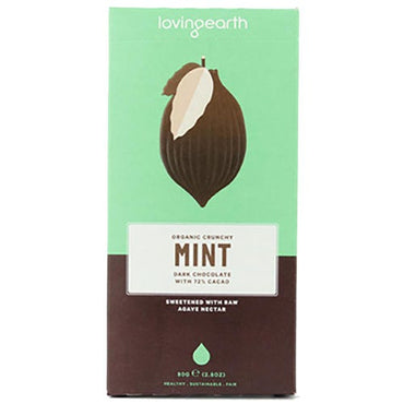 Loving Earth Mint Dark Chocolate (80g)