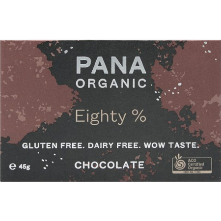 Pana Raw Cacao Eighty % Choc 45g