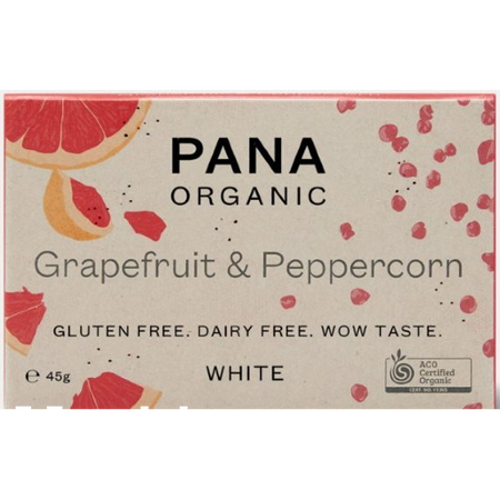 Pana White Grapefruit & Peppercorn Choc 45g