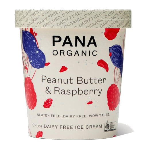Pana Peanut Butter & Raspberry Dairy Free Ice Cream