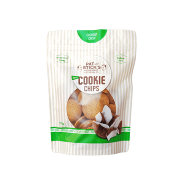 Pat and Stick's Coconut Crisp Mini Cookie Chips 170g