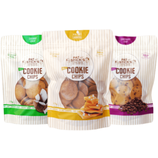 Pat and Stick's Cookie Chips - 3 Pack Combo