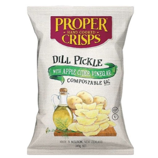 Proper Crisps Dill Pickle with Apple Cider Vinegar (140g)