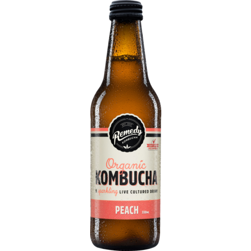 Remedy Kombucha Peach 330ml