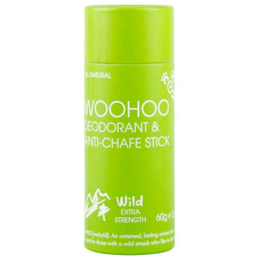 Woohoo Deodorant & Anti-Chafe Stick Wild Extra Strength (60g)