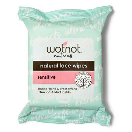 Wotnot Natural Face Wipes Sensitive (25 wipes)