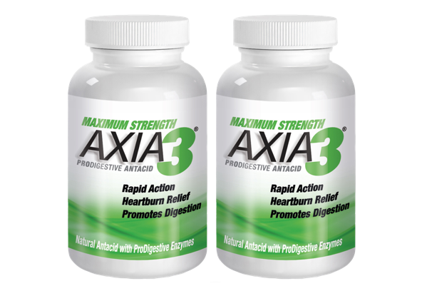 2 X AXIA3 ProDigestive™ Natural Heartburn Relief 90-Counts [15% OFF]