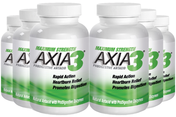 6 X AXIA3 ProDigestive™ Natural Heartburn Relief 90-Counts [25% OFF] + FREE Shipping