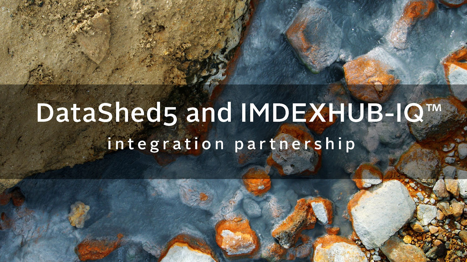 DataShed5 and IMDEXHUB-IQ™ integration partnership
