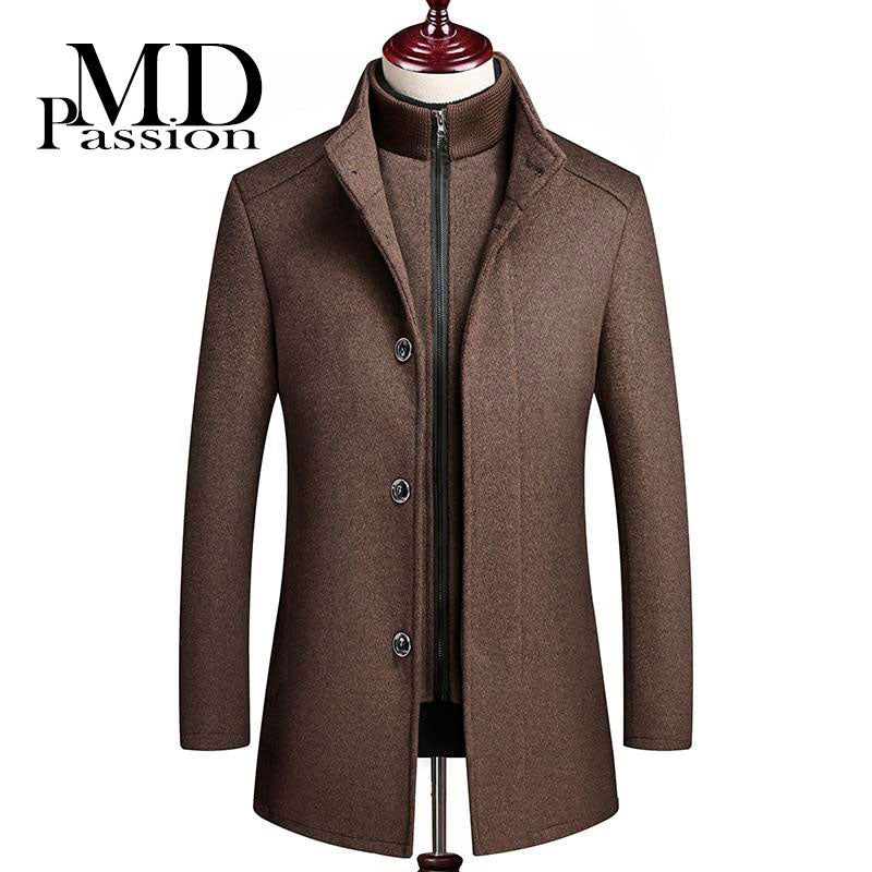 Winter wool coat Men's fashion