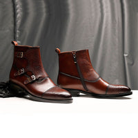 Men Winter Boots Genuine Cow Leather Chelsea