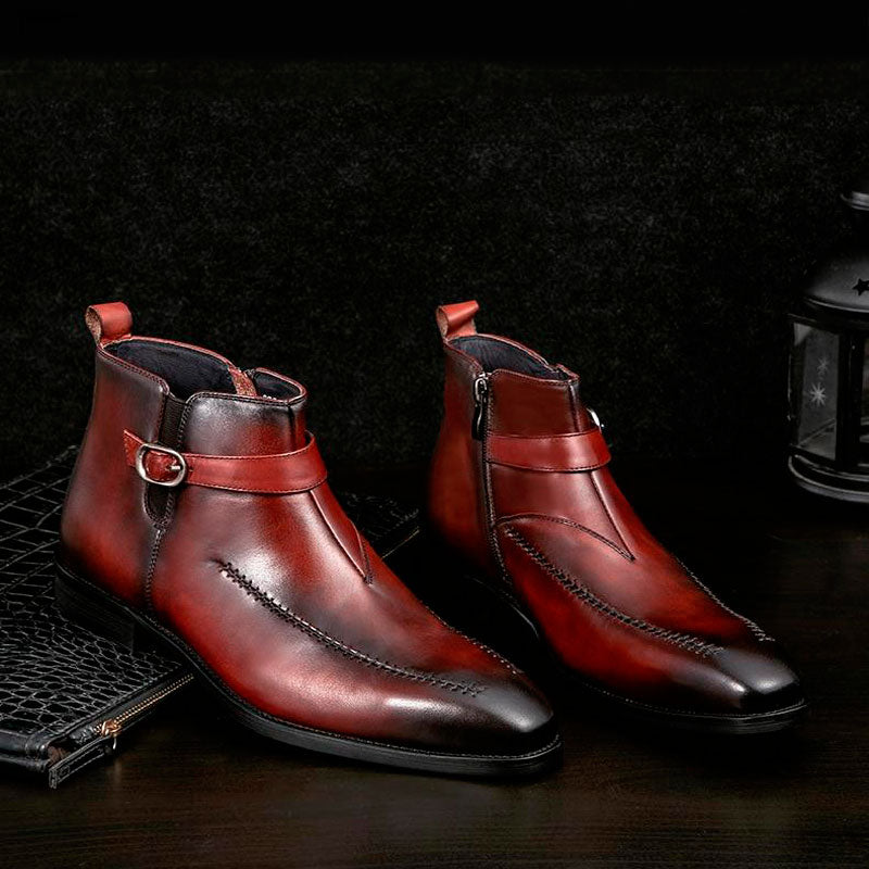 Men winter Boots Genuine cow leather