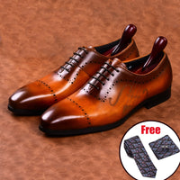 Men Leather Shoes Brand Bullock