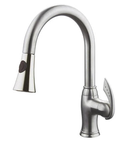 ALTERA Brushed Nickel Kitchen Faucet - New Look Interiors