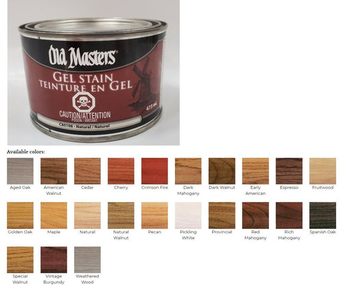 Old Masters Gel Stain 473ml - New Look Interiors