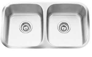Q-EK Equal Bowl Sink Stainless Steel Undermount - New Look Interiors
