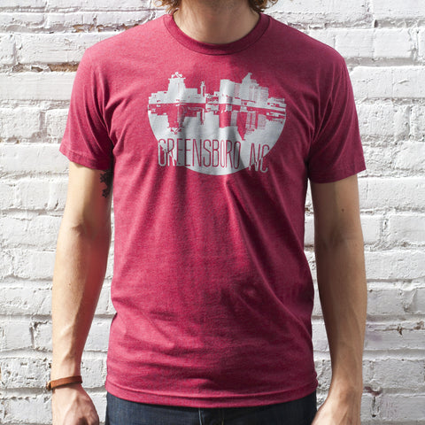 Greensboro Snow Globe Tee Red
