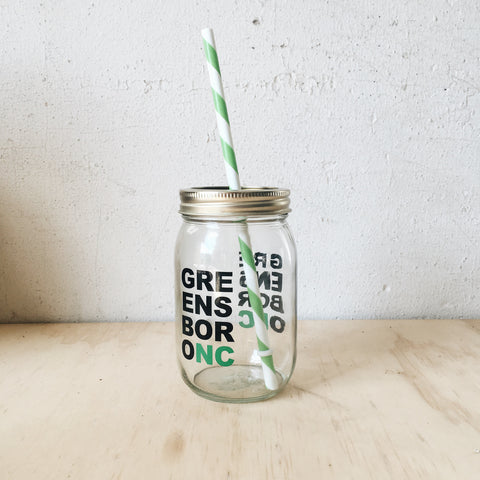 Greensboro Mega Block Mason Jar