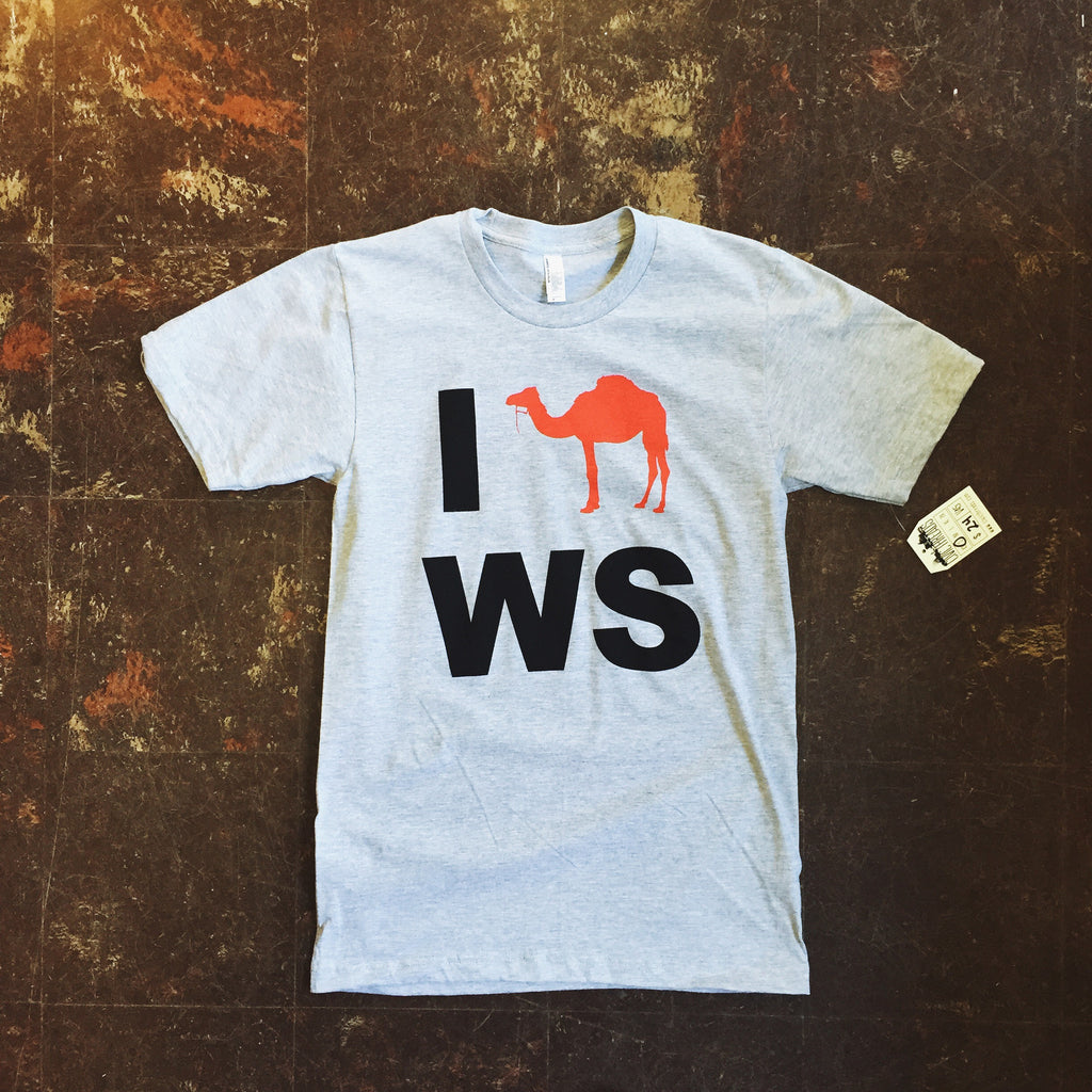 I Camel WS tee.  Made in USA.
