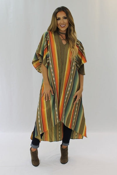 Serape Cardigan Brown