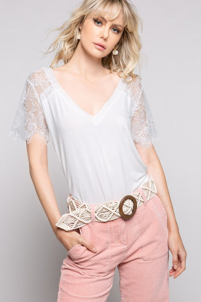 Lovely Lace Shirt White