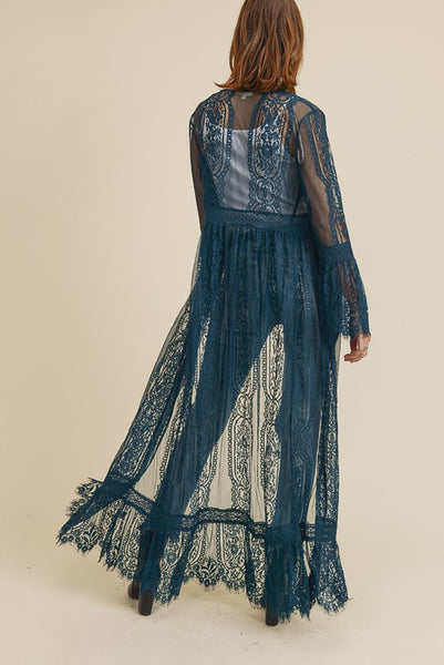 Lovely Lace Duster Black