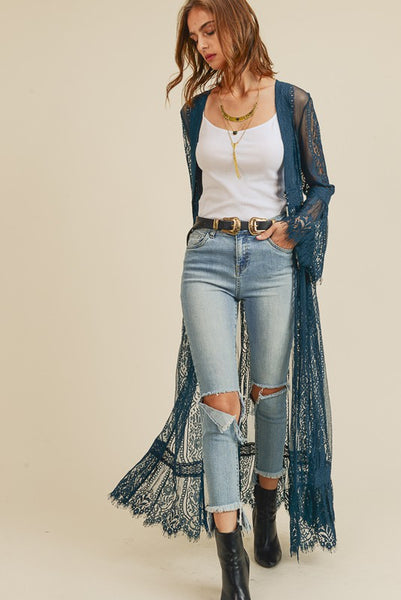 Lovely Lace Duster Jade