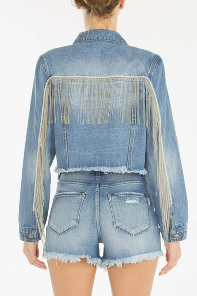 Fringe Denim Jacket