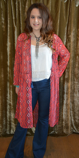 Aztec Paint Cardigan