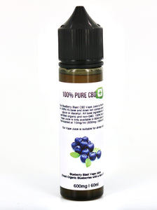 Blueberry Blast Vape Juice - 600mg 60ml - 100% Pure CBD
