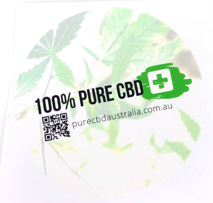 100% Pure CBD Sticker - 100% Pure CBD