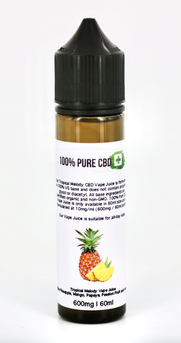 Tropical Melody Vape Juice - 600mg 60ml - 100% Pure CBD
