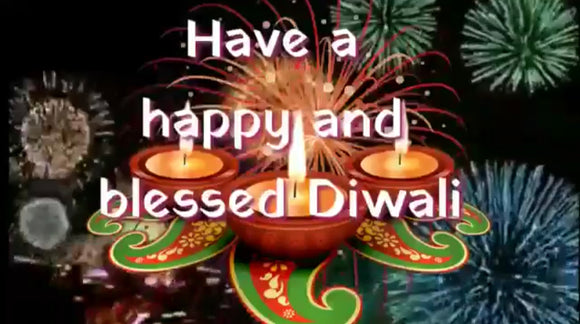 Dear friends from India,  Have a happy and blessed Diwali!