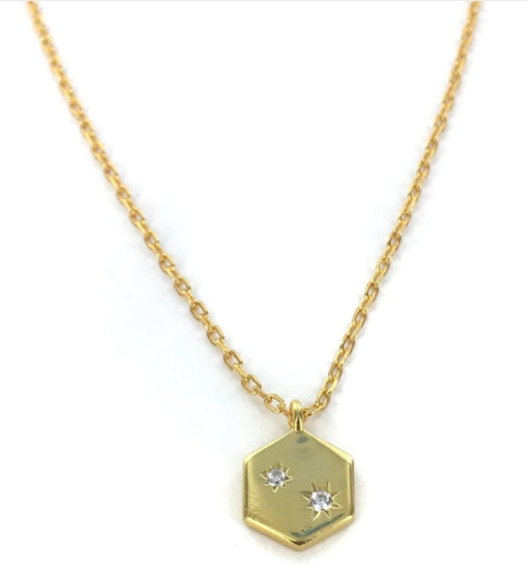 'Aitana' Hexagon Necklace