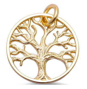 Sterling Silver Gold Plated Tree of Life Pendant