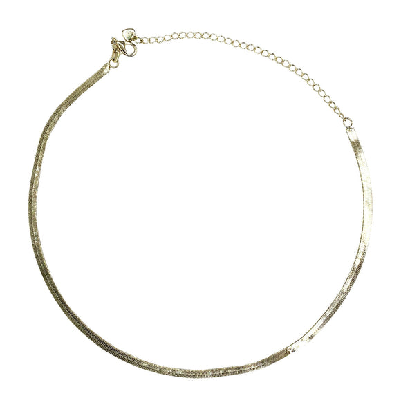 Gold Plated 'Herringbone' Choker, 12