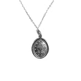 Sterling Silver Miraculous Virgin Mary Medal Necklace, 18""