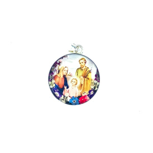 Holy Family - Medium Pressed Flower Necklace