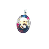 Padre Pio - Large Pressed Flower Necklace