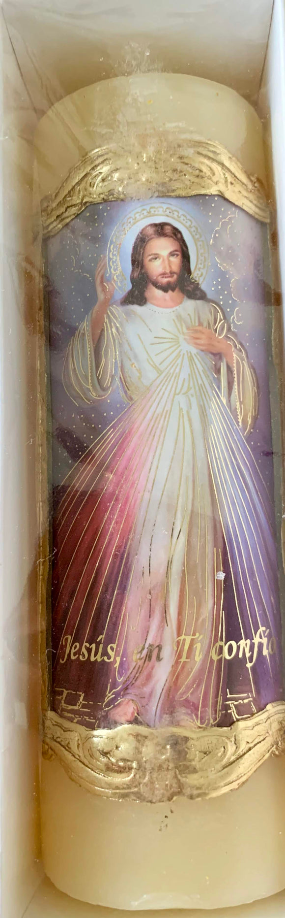 Candle Divine Mercy, 6.5