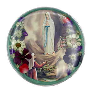 Pressed Flower Box - Our Lady of Lourdes