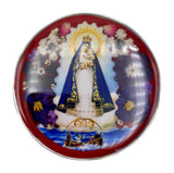 "Our Lady of Charity Rosary Box with Natural Flowers, 2.9""x1.5""x2"""