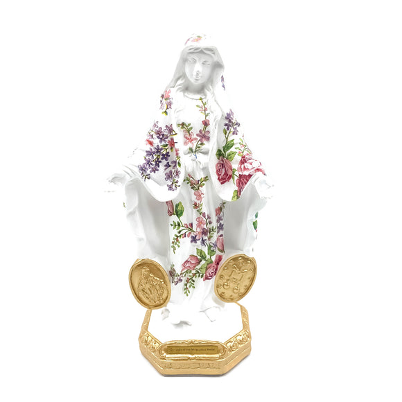 Our Lady of The Miraculous Medal with Roses Statue, 11.8